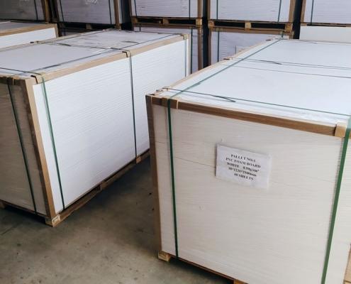 pvc foam board packing wooden pallet
